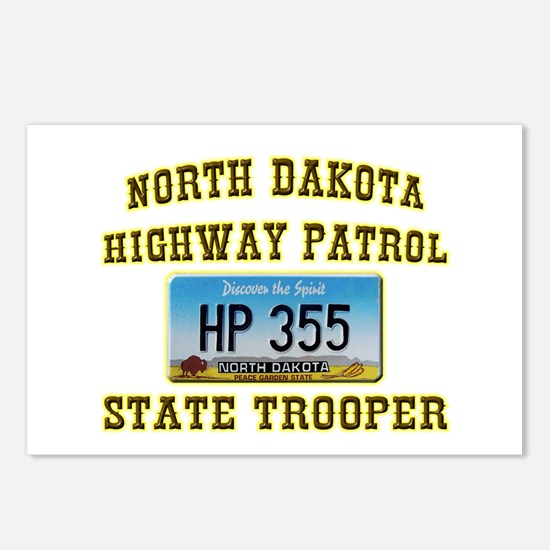 North Dakota Highway Patrol Postcards (Package of