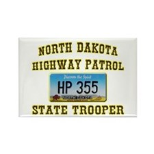 North Dakota Highway Patrol Rectangle Magnet