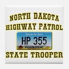 North Dakota Highway Patrol Tile Coaster
