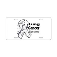 Lung Cancer Awareness Aluminum License Plate