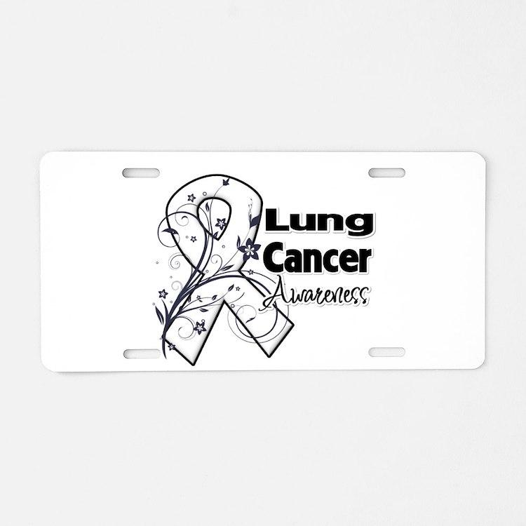 Lung Cancer Awareness Aluminum License Plate