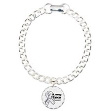 Lung Cancer Awareness Charm Bracelet, One Charm
