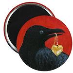 Crow steals Heart Magnet
