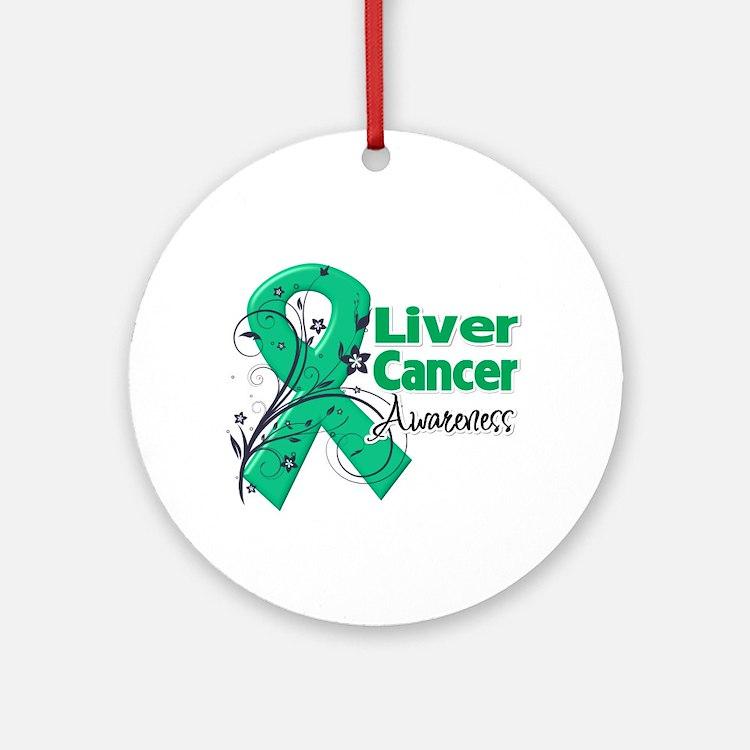 Liver Cancer Awareness Ornament (Round)