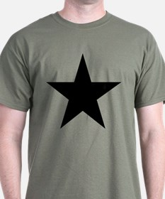 Black 5-Pointed Star T-Shirt