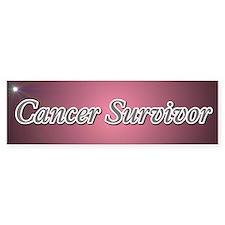 Cancer Survivor Bumper Car Sticker