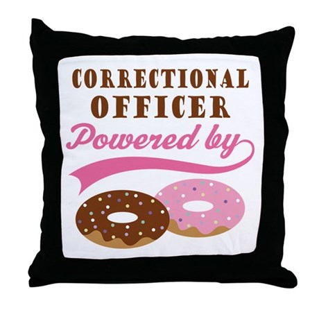 Correctional Officer Gift Donuts Throw Pillow
