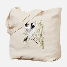 One Crane In Bamboo Tote Bag