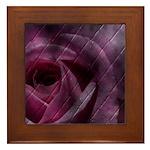 Tiled Rose Framed Tile