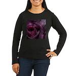 Tiled Rose Women's Long Sleeve Dark T-Shirt