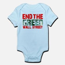 End The Greed Wall Street Infant Bodysuit