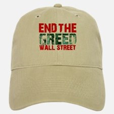 End The Greed Wall Street Baseball Baseball Cap