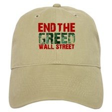 End The Greed Wall Street Baseball Cap