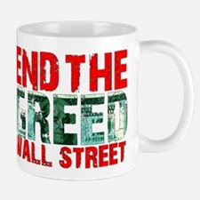 End The Greed Wall Street Mug
