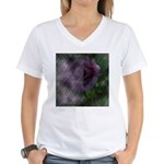 Rose Forever Poem Tile Women's V-Neck T-Shirt