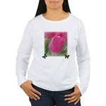 Spring Tulips and Butterflies Women's Long Sleeve