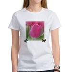Spring Tulips and Butterflies Women's T-Shirt