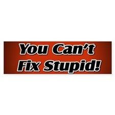 Can't Fix Stupid Bumper Bumper Sticker