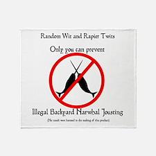 Narwhal Jousting Throw Blanket