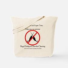 Narwhal Jousting Tote Bag