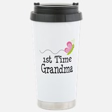 1st Time Grandma Butterfly Travel Mug