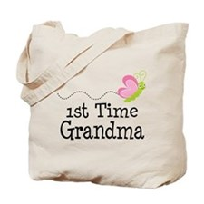 1st Time Grandma Butterfly Tote Bag