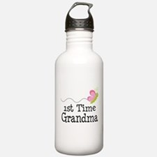 1st Time Grandma Butterfly Water Bottle