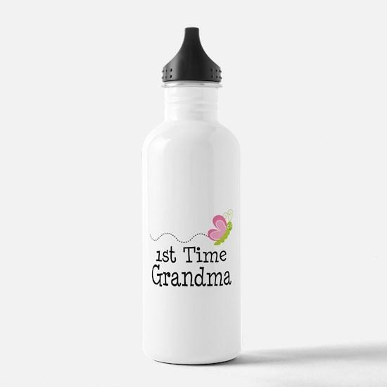 1st Time Grandma Butterfly Water Bottle