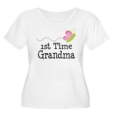 1st Time Grandma Butterfly T-Shirt