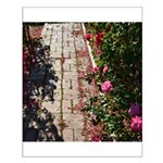 Romantic Rose Path Small Poster