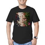 Romantic Rose Path Men's Fitted T-Shirt (dark)