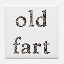 Old Fart Items Tile Coaster