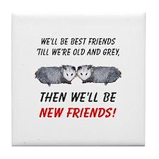 Old New Possum Friends Tile Coaster