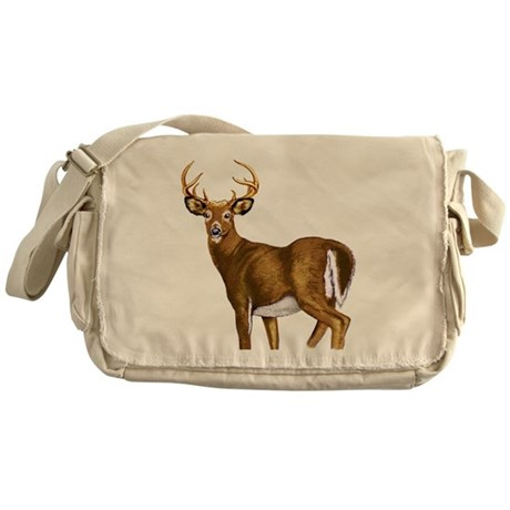 American White Tail Deer Buck Messenger Bag
