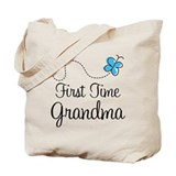 1st time grandma Canvas Bags