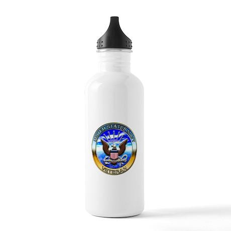 USN Navy Veteran Eagle Stainless Water Bottle 1.0L