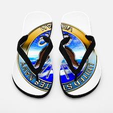 USN Navy Veteran Eagle Flip Flops