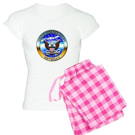 USN Navy Veteran Eagle Women's Light Pajamas