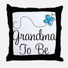 Grandma To Be Butterfly Throw Pillow