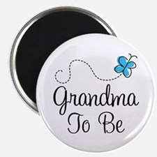 Grandma To Be Butterfly Magnet