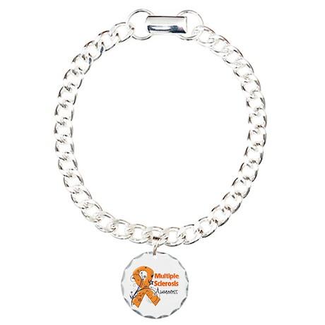 Multiple Sclerosis Awareness Charm Bracelet, One C