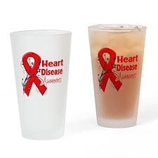Heart Disease Awareness Drinking Glass