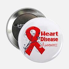 "Heart Disease Awareness 2.25"" Button"