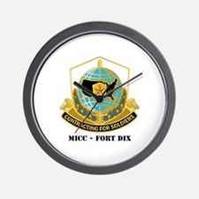 MICC - FORT DIX with Text Wall Clock