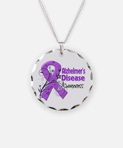 Alzheimers Disease Awareness Necklace