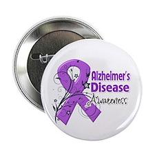 """Alzheimers Disease Awareness 2.25"""" Button"""