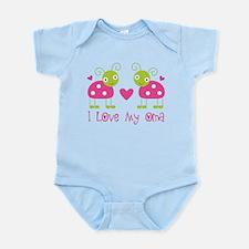 I Love Oma Ladybug Infant Bodysuit