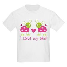 I Love Oma Ladybug T-Shirt