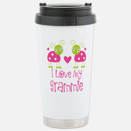 I Love Grammie Ladybug Stainless Steel Travel Mug