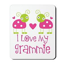 I Love Grammie Ladybug Mousepad